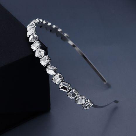 Korean fashion new  simple headdress geometric glass rhinestone hair headband nihaojewelry wholesale NHHS221440's discount tags