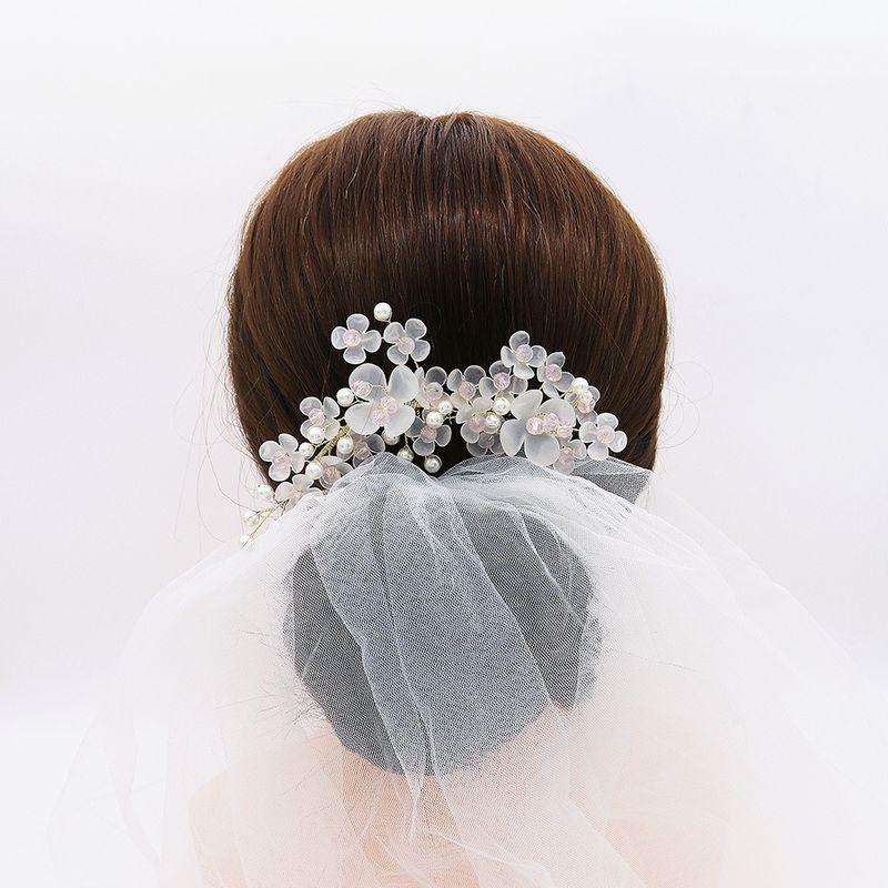 original design handmade headdress Korean bride jewelry beautiful hand inserted comb photography and makeup hair accessories  wholesale nihaojewelry NHHS221441