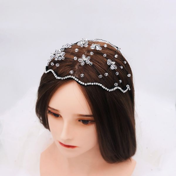 wholesale fashion simple new design light luxury wedding jewelry woven crystal branch hair band bridal hair crown  wholesale nihaojewelry NHHS221446