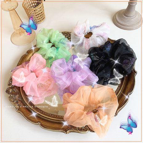 fil transparent papillon cheveux chouchous doux tissu tête cercle tête corde graisse arc cheveux accessoires en gros nihaojewelry NHOF221461's discount tags