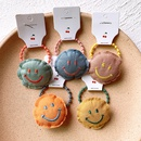 New Korean fabric hair accessories smile face hair rope embroidery cute childrens female baby headdress tie hair accessory NHSA221475