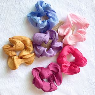 Girl's cream puff silk satin hair scrunchies super fairy French ring head rope Mori hair accessories wholesale nihaojewelry NHSA221476's discount tags