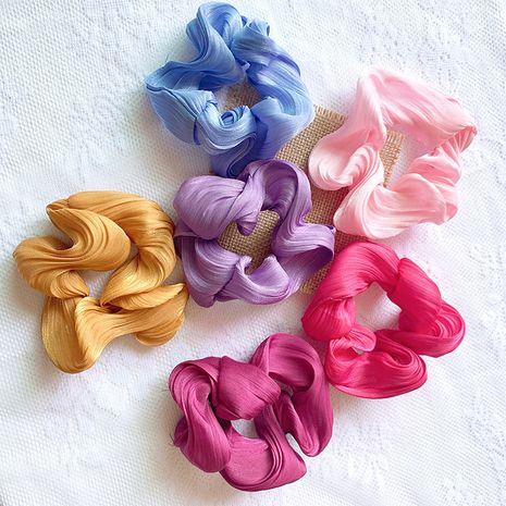 Fille de crème bouffée soie satin cheveux chouchous super fée Français anneau tête corde Mori cheveux accessoires en gros nihaojewelry NHSA221476's discount tags
