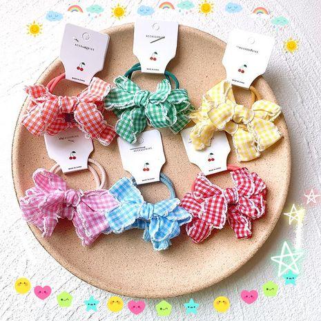 Nouveaux accessoires de cheveux d'arc pour enfants en treillis princesse bande de caoutchouc filles tête corde coiffe bande de caoutchouc accessoires de cheveux coréens NHSA221479's discount tags