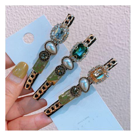 Original nouveau style rétro cristal diamant zircon couleur mélangée en épingle à cheveux combinaison tempérament doux métal cheveux bijoux en gros nihaojewelry NHHD221503's discount tags