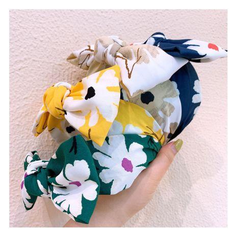 Corée bandeau rétro marguerite grande fleur à large bord arc bande de cheveux antidérapant sauvage en épingle à cheveux bijoux en gros nihaojewelry NHHD221504's discount tags