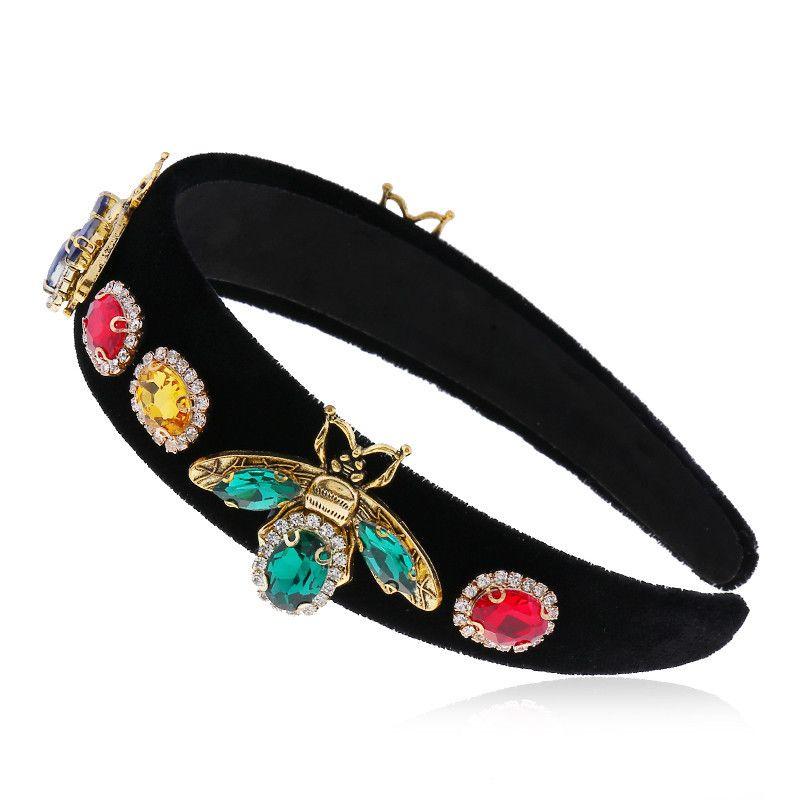 Diadema coreana accesorios para el cabello diadema Moda coreana temperamento retro diadema de diamantes de ala ancha horquilla al por mayor nihaojewelry NHVA221537