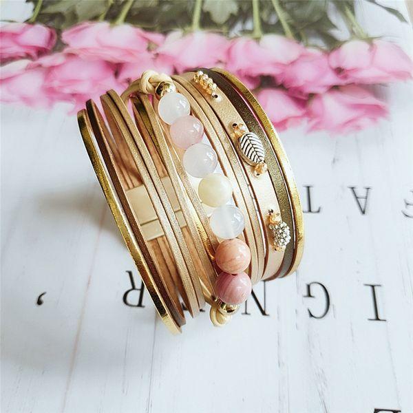 fashion PU leather multilayer bracelet summer beach bracelet gift girl bracelet jewelry wholesale nihaojewelry NHVA221547
