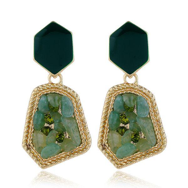 pendientes de estilo nuevo de moda pendientes de acrílico multicolor simples al por mayor nihaojewelry NHVA221565