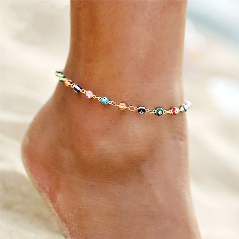 anklet Jewelry Creative Simple Harry Potter Seven Color Water Drop Devil's Eye Anklet  wholesale nihaojewelry NHYI221604's discount tags