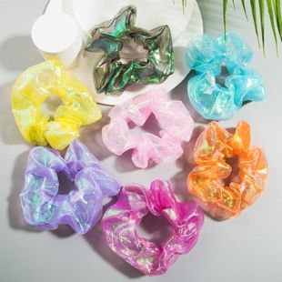 Fashion hair scrunchies colorful gradient color hair head flower Korean fashion hair tie hair accessories hot sale wholesale nihaojewelry NHLN221620's discount tags