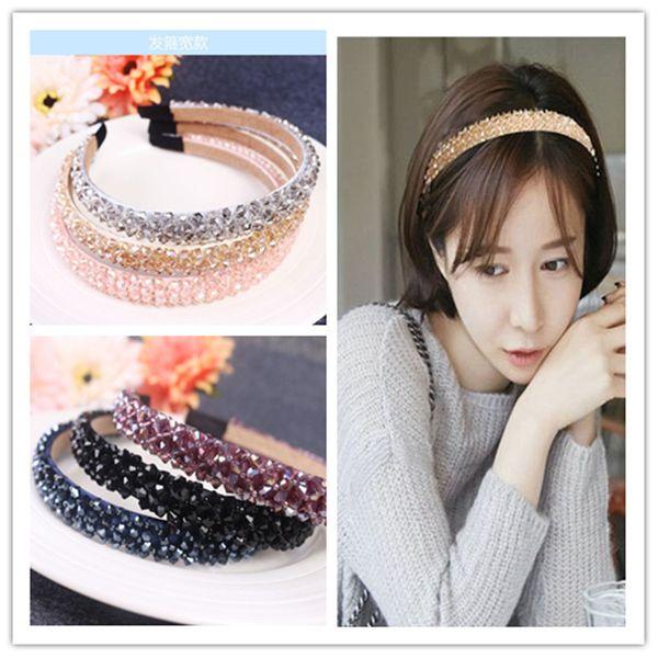 South Korea's headband new high-end crystal hair hoop handmade winding hair headband fashion hair accessories ladies wholesale nihaojewelry NHUX221694