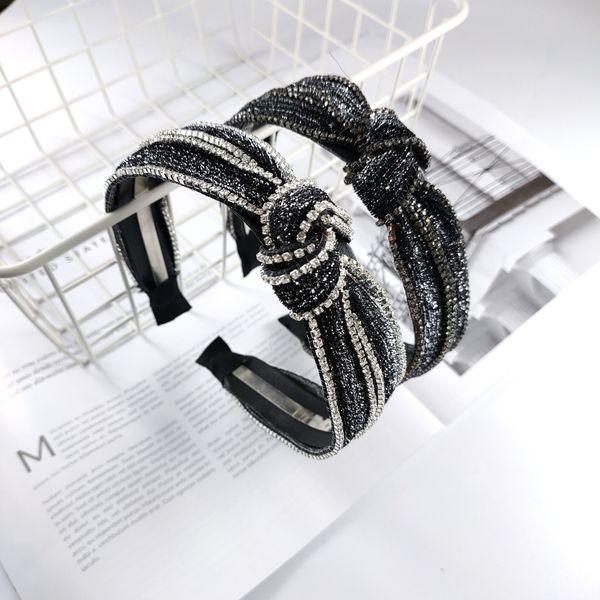 explosions boutique high-end luxury headband personality super fairy rhinestone hairpin new fashion super flash headband wholesale nihaojewelry NHUX221701