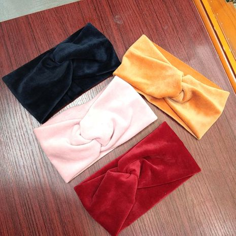 Korean fashion autumn and winter new wide-brimmed high-end cross hair band fabric plush fashion hair accessories hair headband ladies wholesale nihaojewelry NHUX221753's discount tags
