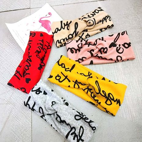 Mode coréenne à large bord tricoté laine croix bandeau rétro alphabet smiley bandeau simple super fée élastique cheveux accessoires en gros nihaojewelry NHUX221755's discount tags