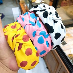Korean fashion new wide-brimmed retro wave knotted headband candy color high-end hair accessories wild face wash hair headband wholesale nihaojewelry NHUX221760's discount tags