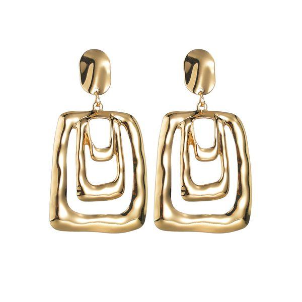 hot sale geometric earrings wholesale new hipsters irregular geometric hollow earrings nihaojewelry NHBQ221764