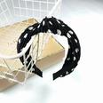 NHUX707879-Black-polka-dot-pleated-knot-headband