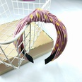 NHUX707880-Pink-polka-dot-pleated-knot-headband