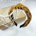 NHUX707881-Yellow-polka-dot-fold-knotted-headband