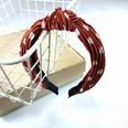 NHUX707883-Orange-wave-point-pleated-knotted-headband