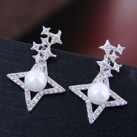 exquis boucles d'oreilles de mode coréenne cuivre micro incrustation zircon météore boucles d'oreilles en gros nihaojewelry NHSC227550's discount tags