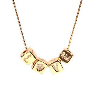 new fashion  letter   cubes diamonds love dice pendant love LOVE  zircon necklace nihaojewelry wholesale NHPY227173's discount tags