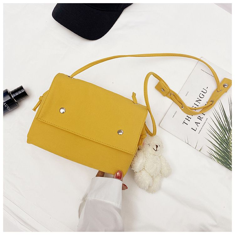 Korean fashion simple style solid color super fire ladies bag messenger bag shoulder bag wholesale NHTC227495