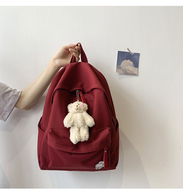 Korean fashion new simple  high school student backpack wholesale NHTC227496