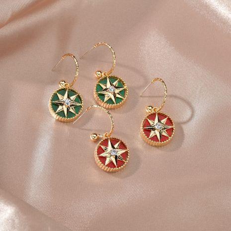 S925 silver Baroque earrings simple geometric round star earrings niche diamond earrings wholesale nihaojewelry NHBQ227568's discount tags