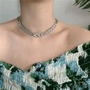 clavicle chain short paragraph flash diamond choker design collar wholesale nihaojewelry NHYQ227596