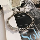 simple thick chain decorative necklace exaggerated clavicle chain choker wholesale nihaojewelry NHYQ227600