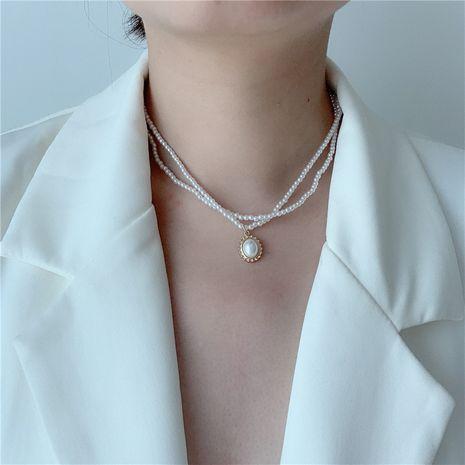 Gypsophila collar de perlas de múltiples capas marea cadena de clavícula retro nuevo collar collar al por mayor nihaojewelry NHYQ227628's discount tags