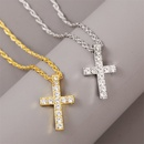 Trend Korean long rhinestone fashion hiphop necklace hiphop pendant jewelry wholesale nihaojewelry NHLA227638