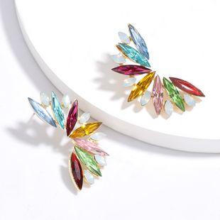 Fashion color diamond series rhinestones diamonds flowers full diamonds earrings trend sduper fairy earrings wholesale nihaojewelry NHJE227642's discount tags
