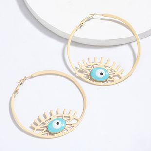 round alloy drip eyes earrings tide retro ethnic style earrings hot sale wholesale nihaojewelry NHJE227643's discount tags