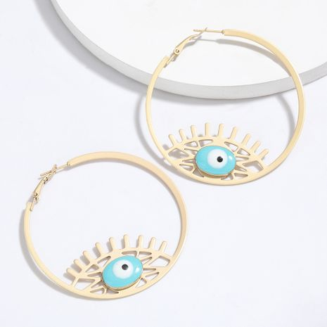 round alloy drip eyes earrings tide retro ethnic style earrings hot sale wholesale nihaojewelry NHJE227643's discount tags