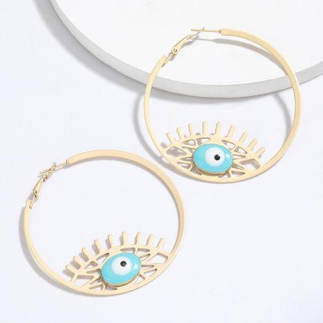alliage rond goutte à goutte yeux boucles d'oreilles marée rétro style ethnique boucles d'oreilles vente chaude en gros nihaojewelry NHJE227643's discount tags