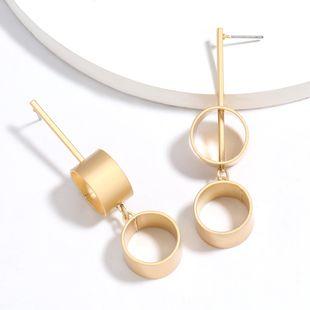 multi-layer cylindrical alloy earrings simple earrings wholesale nihaojewelry NHJE227645's discount tags
