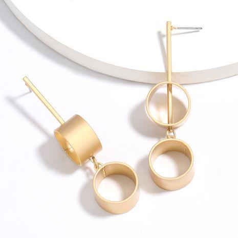 boucles d'oreilles en alliage cylindrique multicouche boucles d'oreilles simples en gros nihaojewelry NHJE227645's discount tags
