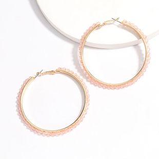 ring acrylic diamond inlaid pearl earrings tide earrings hot sale wholesale nihaojewelry NHJE227649's discount tags