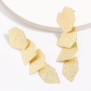 multi-layer polygonal pattern alloy geometric earrings tide retro earrings wholesale nihaojewelry NHJE227651's discount tags