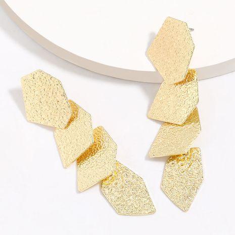 multi-couche motif polygonale alliage géométrique boucles d'oreilles marée rétro boucles d'oreilles en gros nihaojewelry NHJE227651's discount tags