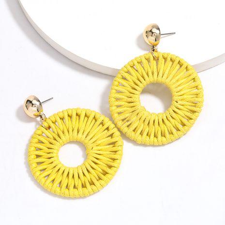 Boucles d'oreilles en corde de coton ronde simple tissé tempérament rétro boucles d'oreilles de style national en gros nihaojewelry NHJE227654's discount tags