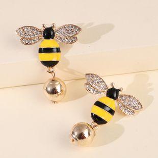 hot sales new symmetrical earrings bee pearl earrings ear jewelry insect earrings Korea wholesale nihaojewelry NHJJ227657's discount tags