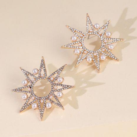 nouveau strass étoiles flocon de neige perles boucles d'oreilles exagérées grandes boucles d'oreilles en gros nihaojewelry NHJJ227658's discount tags