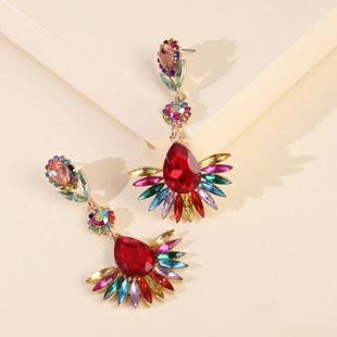 new alloy diamond symmetrical earrings luxury earrings wholesale nihaojewelry NHJJ227663's discount tags