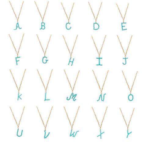 estrella perla salvaje carta colgante largo collar simple turquesa cuentas redondas accesorios de moda al por mayor nihaojewelry NHJQ227684's discount tags