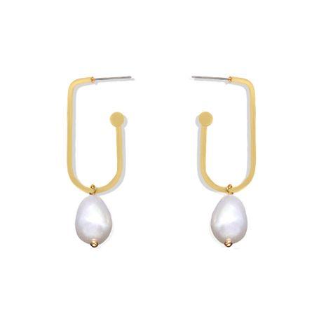 boucles d'oreilles perles de goutte d'eau de géométrie simple boucles d'oreilles coréennes simples gros nihaojewelry NHJQ227699's discount tags