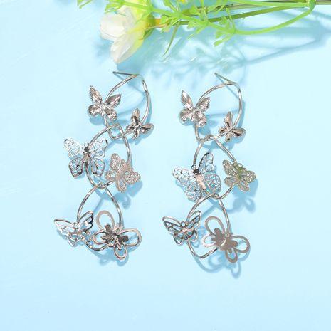mode multicouche papillon boucles d'oreilles rétro forêt insecte longue étoile sauvage boucles d'oreilles bijoux en gros nihaojewelry NHJQ227700's discount tags